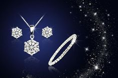 Solitaire Tri Set Made With Crystals From Swarovski®