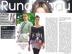 ON AURA TOUT VU COUTURE dans le magazine allemand Rundschau 2012