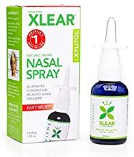 XLEAR Nasal Spray, Fl Oz, All Natural Saline and Xylitol Moisturizing Sinus Care Immediate and Drug Free Relief From Congestion, Allergies, and Dry Sinuses - Remedies Allergy Nasal Spray, Sinus Inflammation, Relieve Sinus Pressure, Sinus Remedies, Natural Remedies, Saline Nasal Spray, Sinus Relief, Congestion Relief