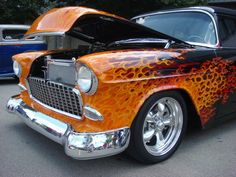 '55 Chevy Engulfed in Flames!