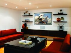 Beverly Hills media room - Modern Furniture, Home Designs & Decoration Ideas