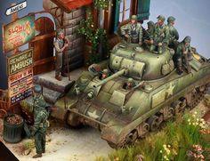 Sherman in Normandy 1:35 by Myker ML.