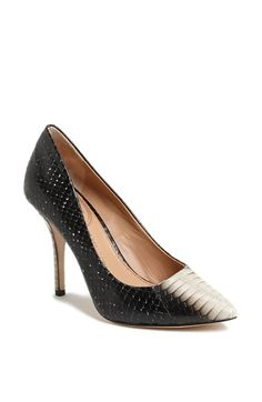 VC Signature 'Carston' Genuine Snakeskin Pointy Toe Pump available at #Nordstrom