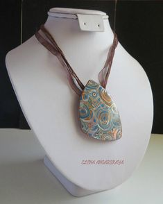 Unique Brown Retro Polymer Clay Necklace and Earrings Set