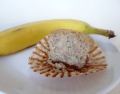 Banana-Nut Oat Bran Muffins Recipe Breads, Breakfast and Brunch with oat bran, baking powder, brown sugar, milk, bananas, egg whites, agave nectar, walnuts
