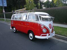 VW Bus 1965 21 Spit Window Rag Top Deluxe Trim Red Amp White | eBay