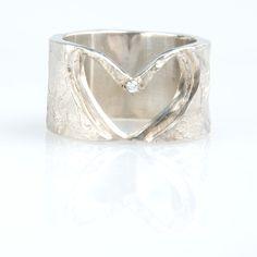 #trouwringen Heart Ring, Rings, Jewelry, Fashion, Moda, Jewlery, Jewerly, Fashion Styles, Ring