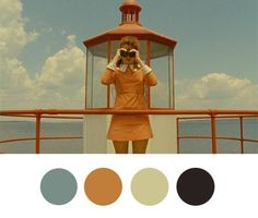 Color Inspiration, Wes Anderson Style Wes Anderson Palettes