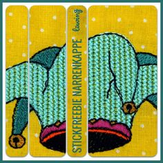 Stickfreebie, Freebie, embroidery, Fasching, Karneval, Mardi Gras, Narrenkappe Stickdatei