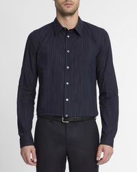 Chemise Fausse Rayure Bleu Marine PS By Paul Smith