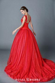 秋醒。優雅紅 - Dresses / Formal Wedding - TaipeiRoyalWed.tw 台北蘿亞結婚精品