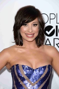 Cheryl Burke Smiles at the People's Choice Awards 2014 ~ I LOVE her new hairstyle!!!