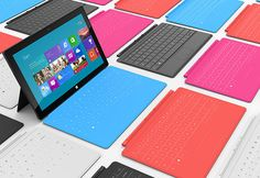 Microsoft Surface Tablet - will come in a variety of cover colors including blue, charcoal and pink.