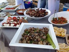 Beach BBQ Buffet, served by Add'Yvents