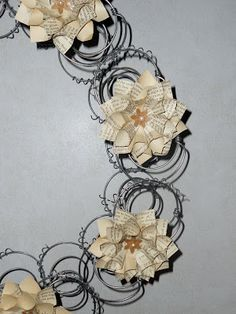 Recycled Book Dahlia Wreath & Upcycled Art Show - The Mad Recycler