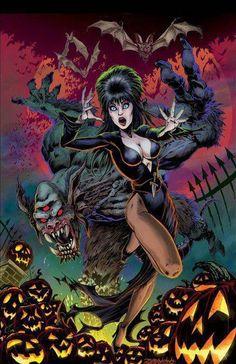 Halloween Quotes : Elvira, Mistress of the Dark, Comic Book Halloween Quotes, Halloween Horror, Halloween Art, Cassandra Peterson, Horror Icons, Horror Comics, Caricatures, Dark Fantasy, Fantasy Art