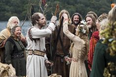 "Floki and Helga's wedding from the History Channel's 2013 TV show, ""Vikings"""