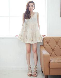 [Stylenanda] Sleeveless Tiered Dress