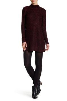 Marled Mock Neck Sweater Dress