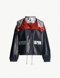 YVES SALOMON - Metallic-panel leather bomber jacket | Selfridges.com Rain Jacket, Bomber Jacket, Fashion Statements, Metallic Colors, Military Fashion, Motorcycle Jacket, Windbreaker, Cover Up, Skinny Jeans