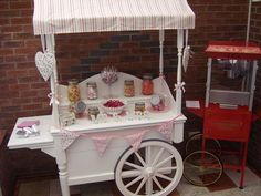 Candy cart and popcorn machine supplied by Linc Events