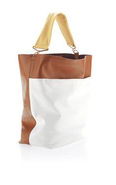Vitello Leather Tri-Color Shoulder Bag by Marni for Preorder on Moda Operandi