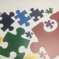 Puzzle Piece Wall Decor kids playroom wall decal colorful wall art mural kids wallpaper