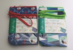 Brighter Days All Purpose Wet/Dry Bag Touchscreen Compatible Pocket Assorted #BrighterDays #ToiletryBag