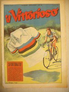 IL-VITTORIOSO-CICLISMO-1952-FAUSTO-COPPI-BIANCHI-CAMPIONATO-MONDIALE-PERIGNAN