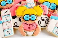 Baby Geek Cookies for a Virtual Shower