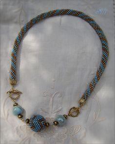 Kumihimo necklace, nice!!