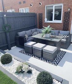 Backyard Seating, Backyard Patio Designs, Small Backyard Landscaping, Backyard Ideas, Backyard Pools, Pond Ideas, Landscaping Ideas, Back Garden Design, Backyard Renovations