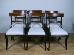 Set Of 6 Regency Mahogany Barback Dining Chairs - Antiques Atlas