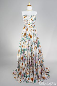 1970 Badgley Mischka Vintage Evening Gown