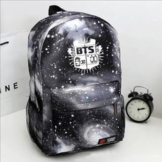 2017 Fashion Canvas Galaxy Printed BTS Backpacks School Bags For Teenager girls Men Laptop Travel Rucksack Mochila Escolar Bts Backpack, Galaxy Backpack, Laptop Backpack, Backpack Bags, Bts School, School Bags, Korean Fashion Men, Young Fashion, Korean Women