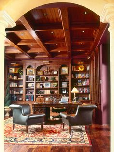 traditional home library