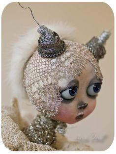 Beautiful MOTH ART doll
