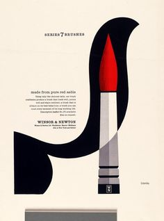ad for Winsor and Newton by Tom Eckersley (1970)