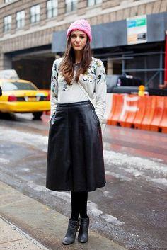 Идея для шоппинга: юбка из кожи 2