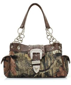 Brown Camo Handbag