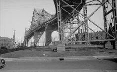 29 avril 1937 Pont Jacques-Cartier,Montréal. Jacques Cartier, Expo 67, Old Montreal, Canada, George Washington Bridge, Photos Du, History, City, Places