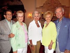 Cathy Finnegan, center, with Bud and Marie Knight and Pat and Roy Gillian at the Pops reception at The Flanders in June 2014.\ file photo