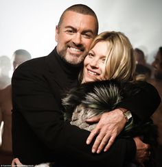 George Michael and Kate Moss embraced each other during the making of the video for 'White Light' in June 2012