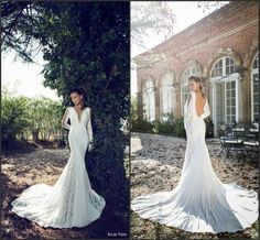 Image result for slim long sleeve lace wedding gown