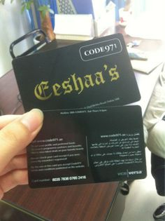 Custom design double side printing black plastic business card