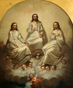 Holy Trinity - Andres Hernandez, 1886 Pictures Of Christ, Jesus Christ Images, Religious Pictures, Jesus Art, Catholic Art, Religious Art, Holy Trinity Image, Christ The King, Jesus Is Lord