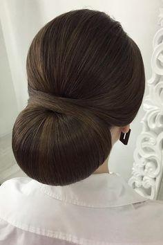 vintage wedding hairstyles classic hair bun oksana sergeeva