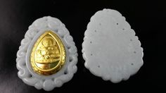 wholesale jade pendants with gold por acejewellery Jade Pendant, Pendants, Etsy, Gold, Buddha, Handmade Gifts, Hand Made, Pendant