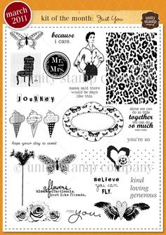 Unity Stamp Company March 2011 Kit of the Month