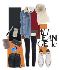"""""""Jean Genie"""" by lizzy-stardust on Polyvore featuring STELLA McCARTNEY, Uniqlo, Valentino, Topshop, Converse, Inverni, J.Crew, Paperchase, Casetify and Lulu Guinness"""